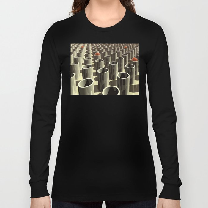Stockyard of Cylinders Long Sleeve T-shirt