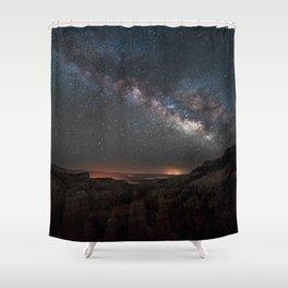 MILKY WAY OVER FAIRYLAND CANYON Shower Curtain