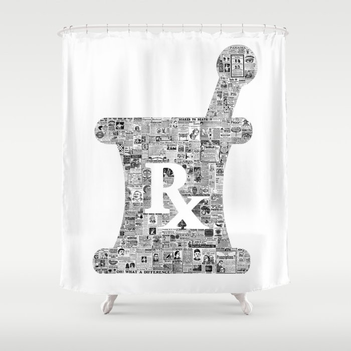 Pharmacy Sign Medical Medicine Doctor Gift PANACEA Shower Curtain By Unconditional Freshness
