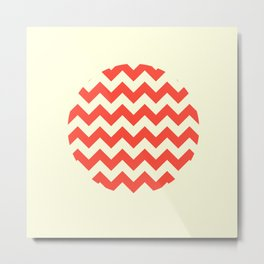 Chevron Full Circle Metal Print