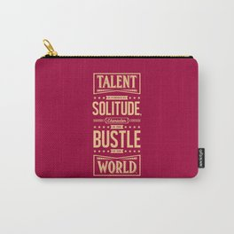 Lab No. 4 Talent Is Formed Johann Goethe Life Motivational Quotes Carry-All Pouch