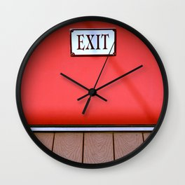The Next Exit Wall Clock