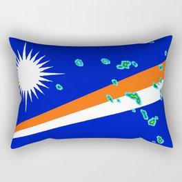 Marshall Islands Flag with Marshallese Map Rectangular Pillow