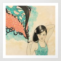 swim Art Prints featuring swim by Laura Graves