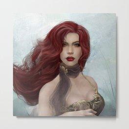 The redhead girl Metal Print