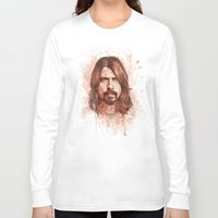 dave grohl Long Sleeve T-shirts featuring Dave Grohl by Renato Cunha