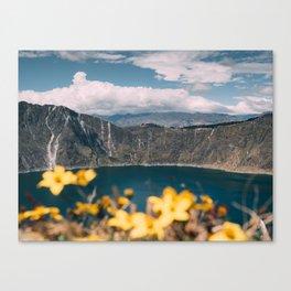Quilotoa Lagoon Ecuador Canvas Print