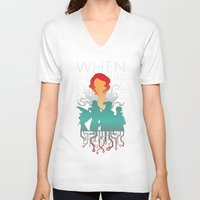 transistor V-neck T-shirts featuring When everything changes, nothing changes. by Agustindesigner
