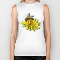 bees Biker Tanks featuring Bees by Moody Muse