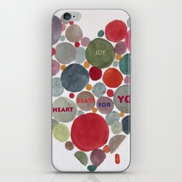 VALENTINE, my heart beats for you iPhone Skin