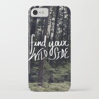 into the wild iPhone & iPod Cases featuring Wild by Leah Flores