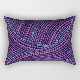Dot Art Aboriginal Art Waves Purple Rectangular Pillow