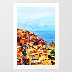 Cinque Terre COLOR Art Print