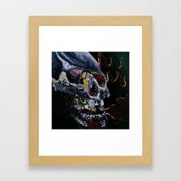 Society Skull Framed Art Print