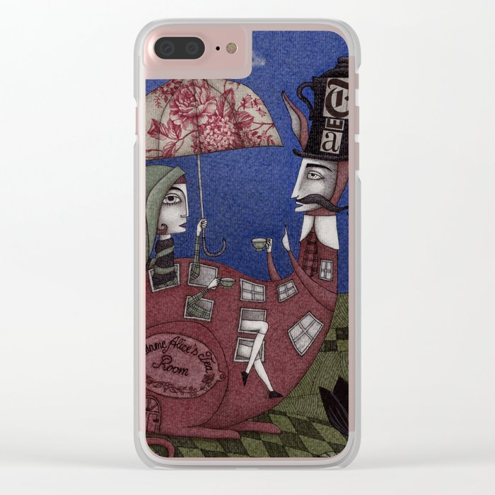 Tea for Two (1) Clear iPhone Case
