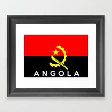 Angola country flag name text Framed Art Print