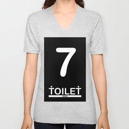 TOILET CLUB #7 Unisex V-Neck