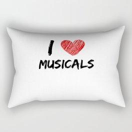 I Love Musicals Rectangular Pillow