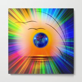 Abstract in perfection - Fertile Imagination Rose Metal Print