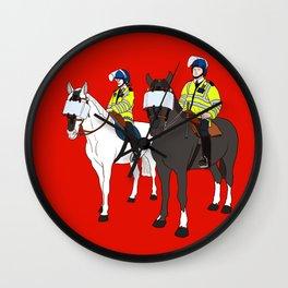 London Metropolitan Horse Cops Wall Clock