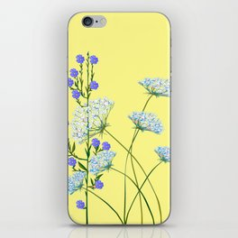 My Kentucky Wild Flowers, Queen Anne Lace and Flax iPhone Skin