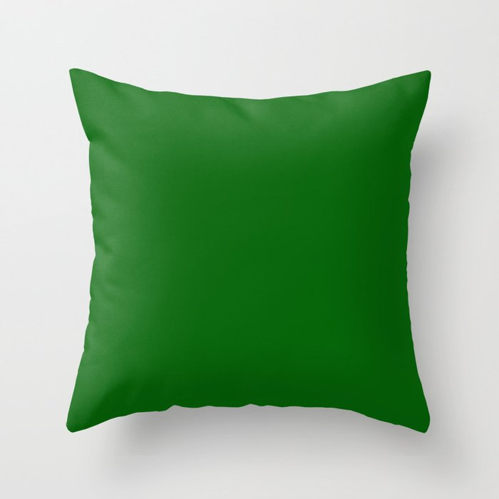 Emerald Green - solid color Throw Pillow