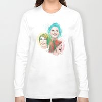 hayley williams Long Sleeve T-shirts featuring Hayley Electric Hair by ●•VINCE•●