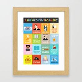 Arrested Development Quotes Poster Framed Art Print
