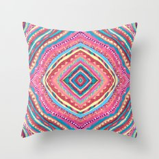 Bright Gypsy Bohemian Abstract Pattern Throw Pillow