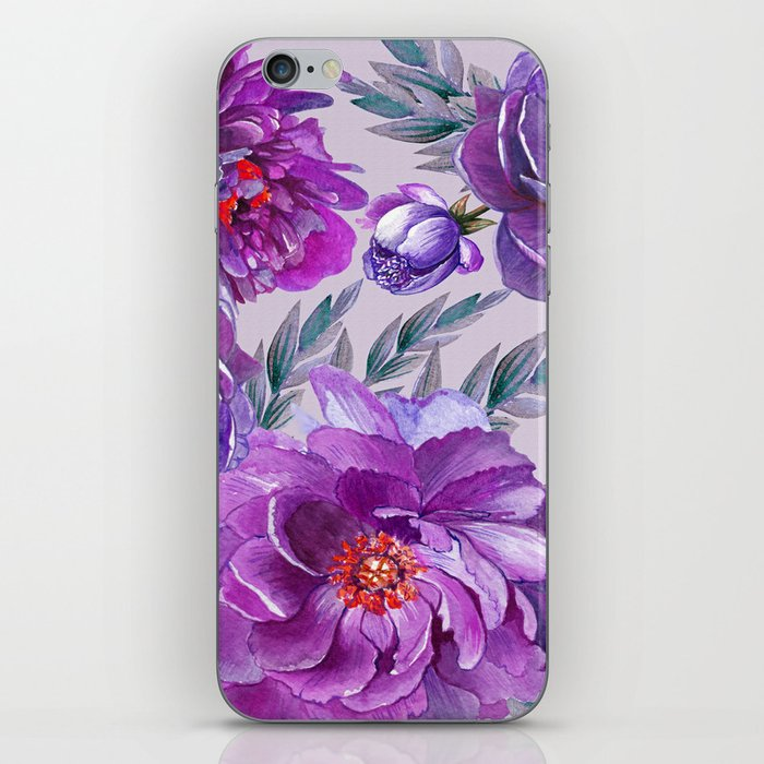 Violet and Purple Flowers iPhone Skin