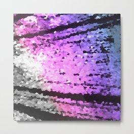 Pink Lavender Periwinkle Crystal Texture Metal Print