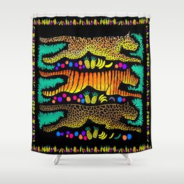 Leaping Felines Shower Curtain