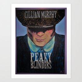Cillian Murphy as Tommy Shelby Art Print
