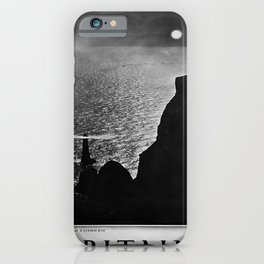 retro classic Britain Beachy Head poster iPhone Case