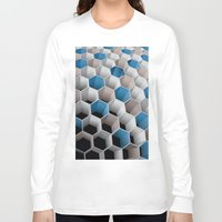 honeycomb Long Sleeve T-shirts featuring Honeycomb by amanvel