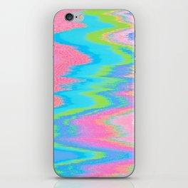 Neon Spill Abstract iPhone Skin