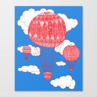 hot air balloon Canvas Prints featuring Hot Air Balloon by lush tart