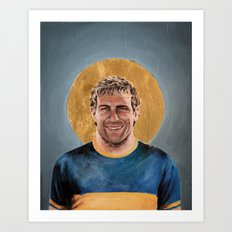 MP - Football Icon Art Print