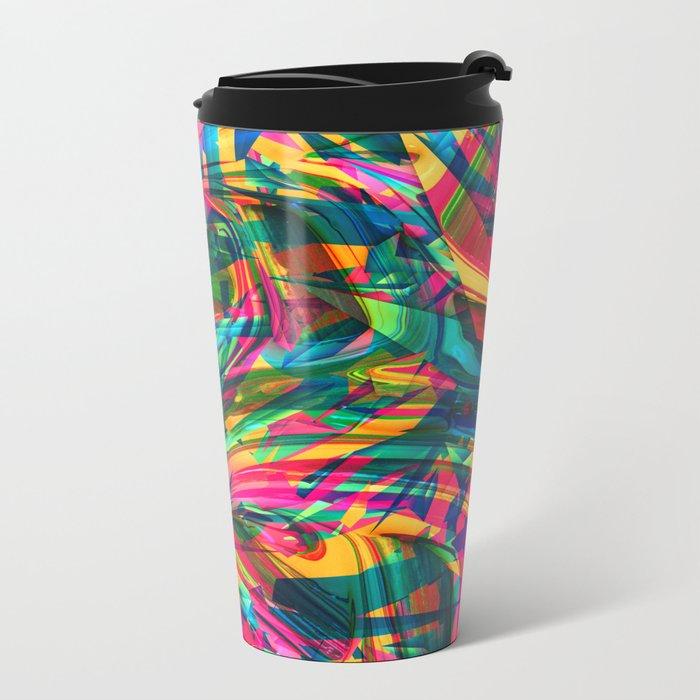Wild Abstract Metal Travel Mug
