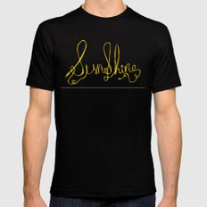 sunshine Black Mens Fitted Tee X-LARGE
