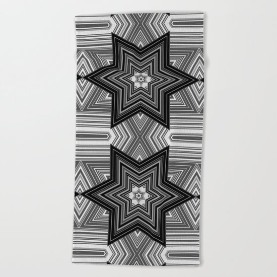 Black and white abstract pattern. Graphics.  Beach Towel