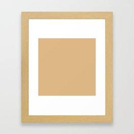 Solid Soft BurlyWood Color Framed Art Print