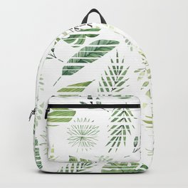 Summer stripped leafs pattern Backpack