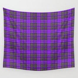 Lunchbox Purple Plaid Wall Tapestry