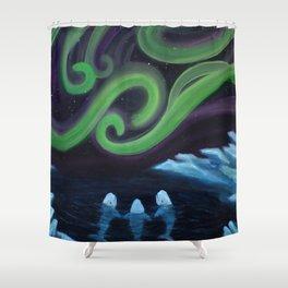 Beluga Nights Shower Curtain