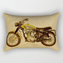 Scrambler 350 1970 vintage classic motorcycle Rectangular Pillow