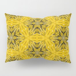 Black and yellow star ornament Pillow Sham