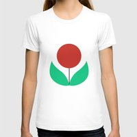 scandinavian T-shirts featuring Scandinavian flowers by kongkongdigital