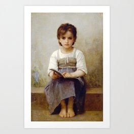 """William-Adolphe Bouguereau """"La Leçon Difficile (The difficult lesson)""""(1884) Art Print"""