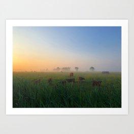 Par un matin de brume Art Print